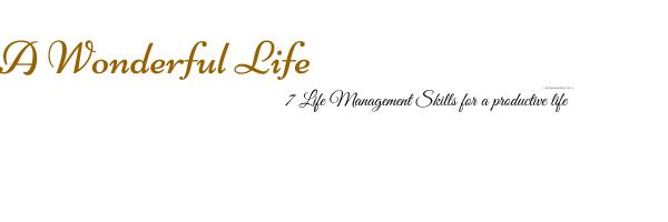 7 key life management skills